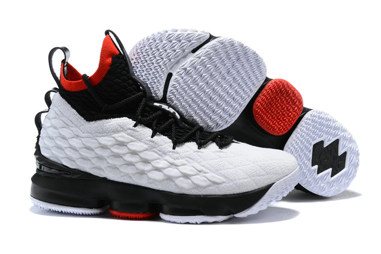 2018 Cheapest Wholesale Sale Nike Lebron 15 (XV) China Red Black White For Mens - www.wholesaleflyknit.com