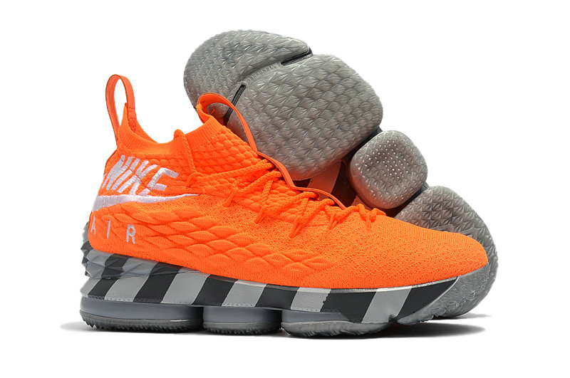 b6521b8697a 2018 Cheapest Wholesale Sale Nike Lebron 15 (XV) Orange Grey For Mens - www