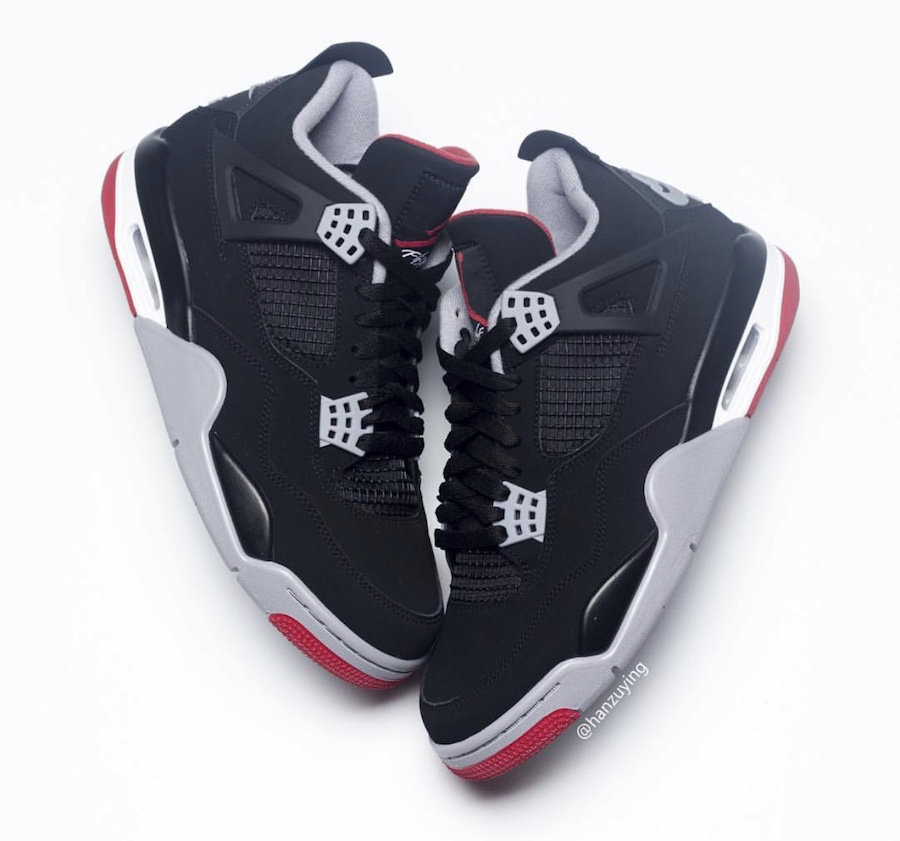 2019 Cheapest Wholesale Air Jordan 4 Black Cement Grey-Fire Red 308497-060 - www.wholesaleflyknit.com
