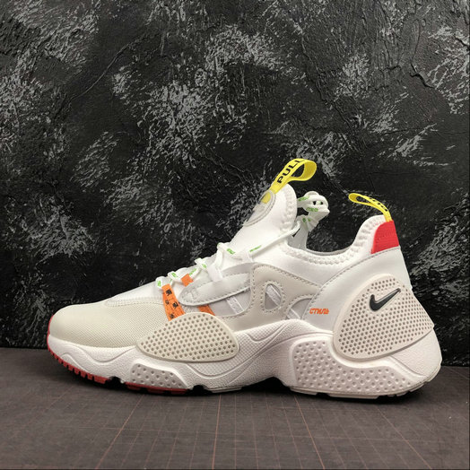 2019 Wholesale Cheap Heron Preston x Nike Huarache E.D.G.E. Blanche Rouge Jaune CD5779-100 - www.wholesaleflyknit.com