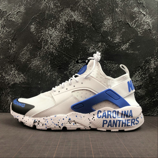 2019 Wholesale Cheap NIKE AIR HUARACHE ULTRA 847568 013 WHITE ROYAL BLUE BLACK - www.wholesaleflyknit.com