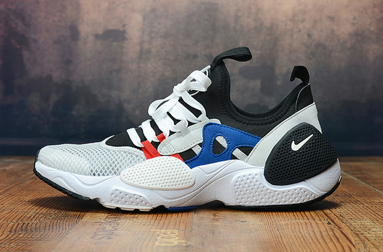 2019 Wholesale Cheap Nike Air Huarache 8 Edge TXT OG White Black Blue Red - www.wholesaleflyknit.com