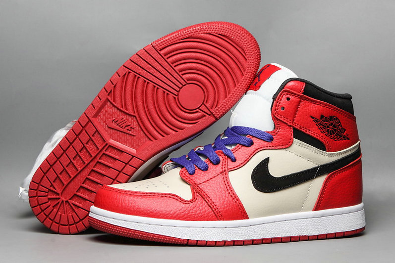 2019 Cheapest Wholesale Nike Air Jordan 1 Mid University Red White Purple - www.wholesaleflyknit.com