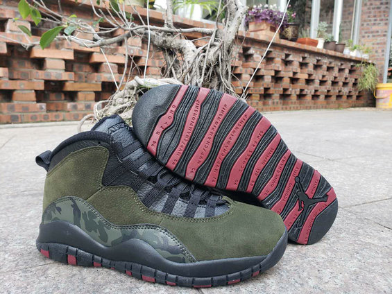 2019 Wholesale Cheap Nike Air Jordan 10 Olive Camouflage - www.wholesaleflyknit.com