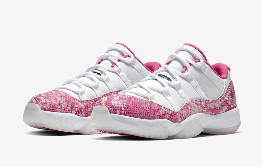 2019 Wholesale Cheap Nike Air Jordan 11 Low Pink Snakeskin AH7860-106 White Watermelon-Black - www.wholesaleflyknit.com