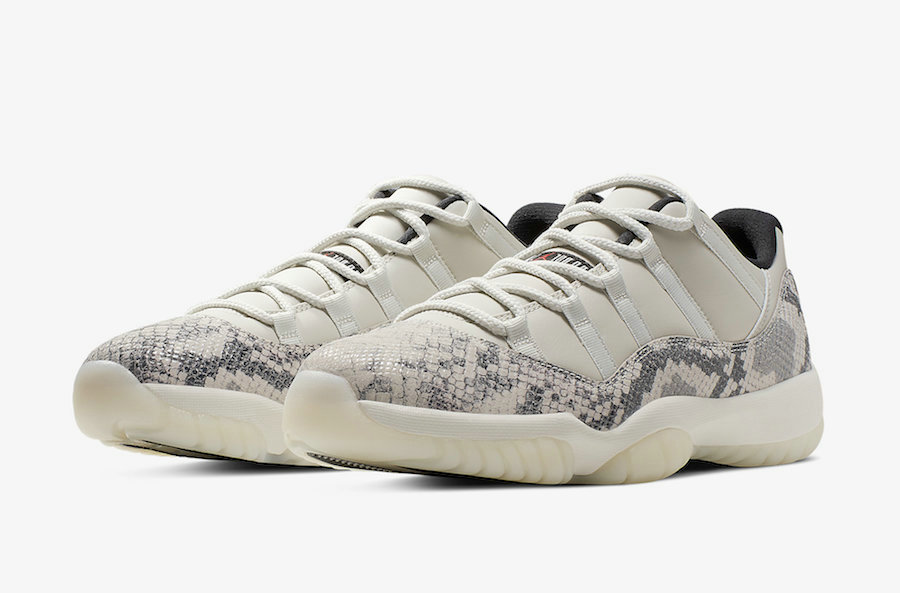 2019 Wholesale Cheap Nike Air Jordan 11 Low Snakeskin CD6846-002 Light Bone-University Red-Sail-Black - www.wholesaleflyknit.com