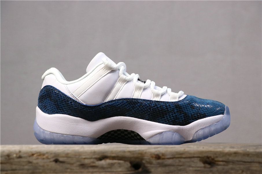 2019 Wholesale Cheap Nike Air Jordan 11Navy Blue Snakeskin CD6846-102 - www.wholesaleflyknit.com