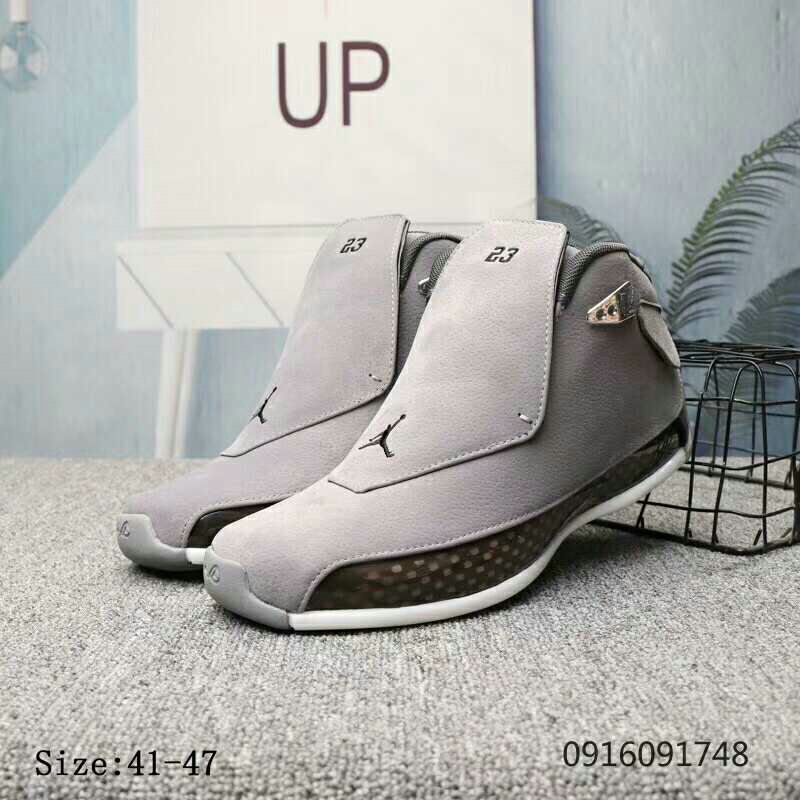2019 Wholesale Cheap Nike Air Jordan 18 Cool Grey - www.wholesaleflyknit.com