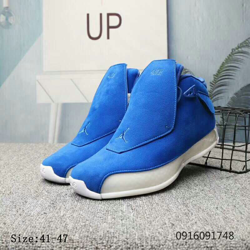 2019 Wholesale Cheap Nike Air Jordan 18 Racer Blue Racer Blue-Sail AA2494-401 - www.wholesaleflyknit.com