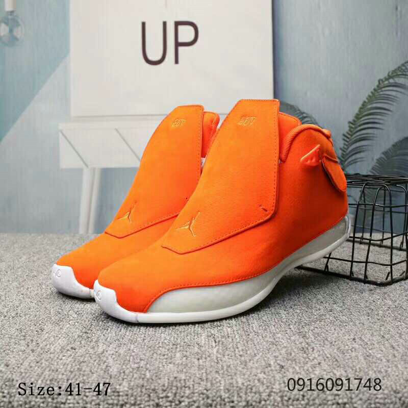 2019 Wholesale Cheap Nike Air Jordan 18 Team Orange White - www.wholesaleflyknit.com