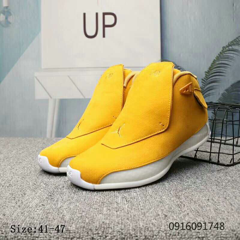 2019 Wholesale Cheap Nike Air Jordan 18 Yellow Ochre Yellow Ochre-Sail AA2494-701 - www.wholesaleflyknit.com