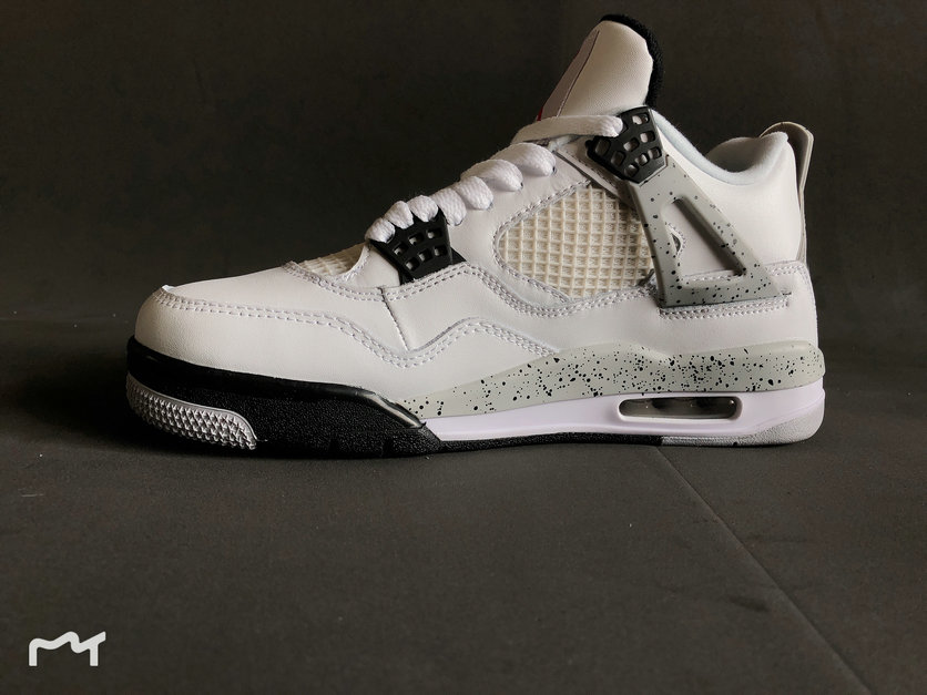 70a6f86252d 2019 Cheapest Wholesale Nike Air Jordan 4 Retro White Cement Fire Red Grey  840606 192 -