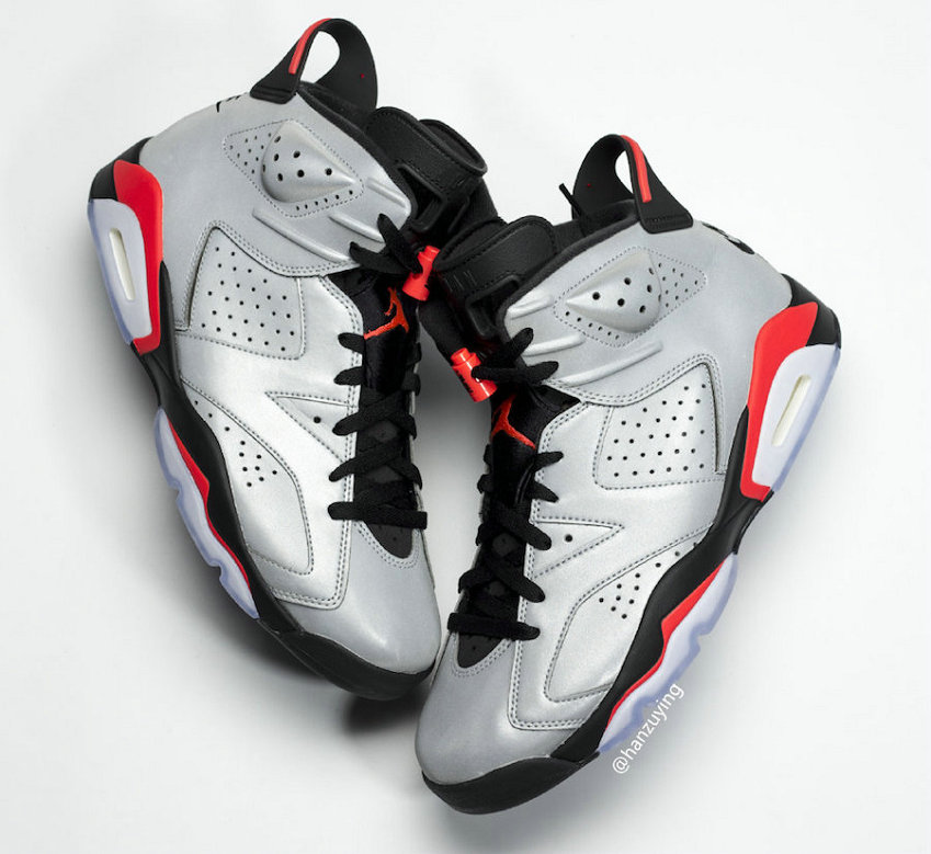 2019 Wholesale Cheap Nike Air Jordan 6 JSP 3M Reflective Infrared Black-Infrared - www.wholesaleflyknit.com