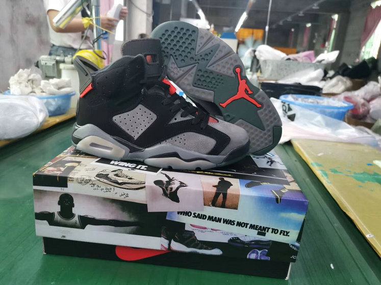 2019 Wholesale Cheap Nike Air Jordan 6 PSG Iron Grey Infrared 23-Black CK1229-001 - www.wholesaleflyknit.com