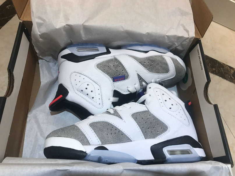 2019 Wholesale Cheap Nike Air Jordan 6 Retro White Dark Concord Black Blanc Noir Fonce C13125-100 - www.wholesaleflyknit.com