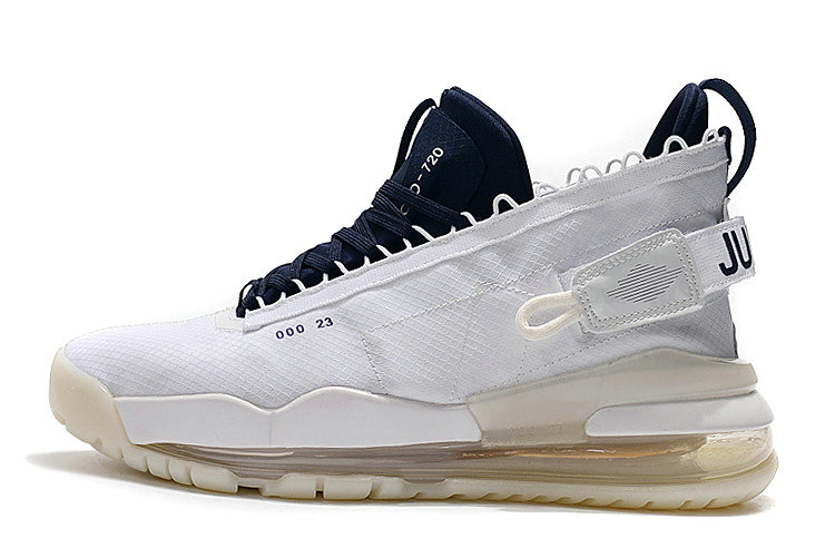 2019 Wholesale Cheap Nike Air Jordan Proto Max 720 White Navy Blue For Sale - www.wholesaleflyknit.com