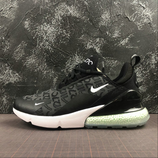 2019 Wholesale Cheap Nike Air Max 270 Black White Green AQ9166-003 - www.wholesaleflyknit.com