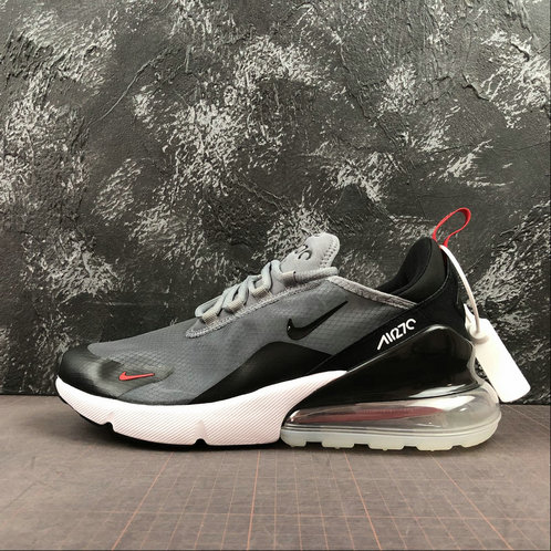 2019 Wholesale Cheap Nike Air Max 270 Light Gray Black Red Noir Rouge AQ8050-003 - www.wholesaleflyknit.com