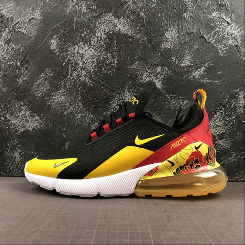 2019 Wholesale Cheap Nike Air Max 270 SE Black University Gold-Bright Crimson AR0499-005 - www.wholesaleflyknit.com