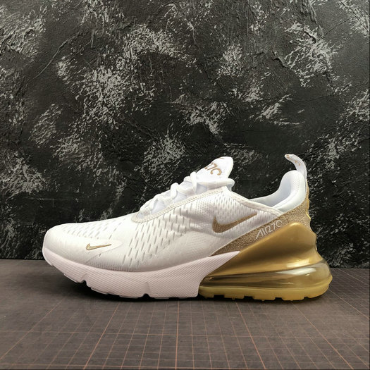 2019 Wholesale Cheap Nike Air Max 270 White Gold Blanc OR CD8497-019 - www.wholesaleflyknit.com