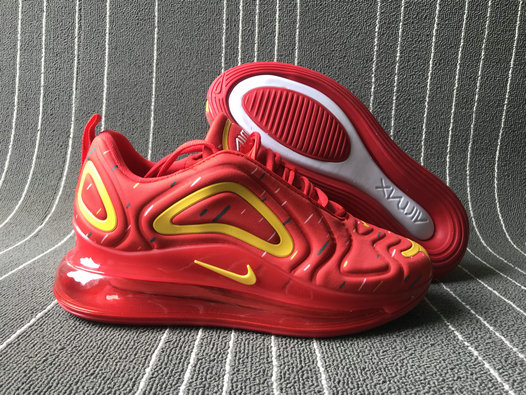 2019 Wholesale Cheap Nike Air Max 720 Spatter University Red Yellow - www.wholesaleflyknit.com