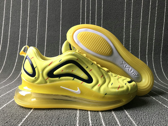 2019 Wholesale Cheap Nike Air Max 720 Spatter Yellow Black - www.wholesaleflyknit.com
