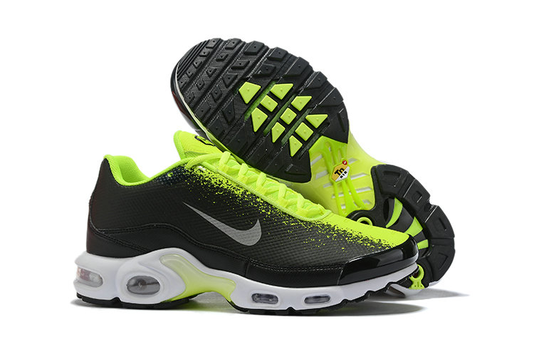 2019 Wholesale Cheap Nike Air Max TN Plus Fluorescent Green Black Grey White - www.wholesaleflyknit.com