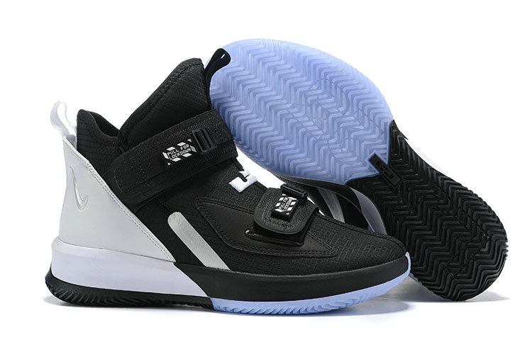 2019 Wholesale Cheap Nike Air Zoon Lebron Soldier 13 XIII Black White - www.wholesaleflyknit.com