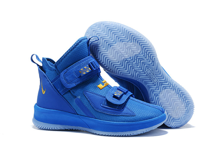 2019 Wholesale Cheap Nike Air Zoon Lebron Soldier 13 XIII Gold Royal Blue - www.wholesaleflyknit.com