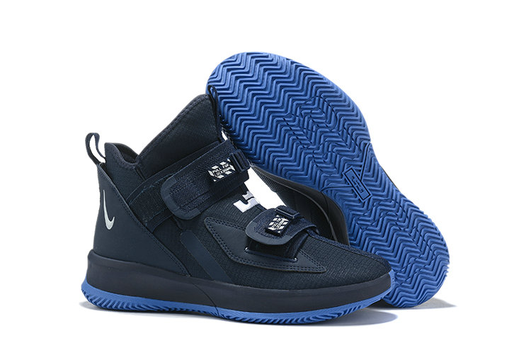 2019 Wholesale Cheap Nike Air Zoon Lebron Soldier 13 XIII Navy Blue - www.wholesaleflyknit.com
