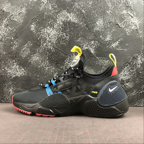 2019 Wholesale Cheap Nike HUARACHE E.D.G.E. HP BLACK OFF NOIR-DARK OBSIDIAN-LT CRIMSON - www.wholesaleflyknit.com