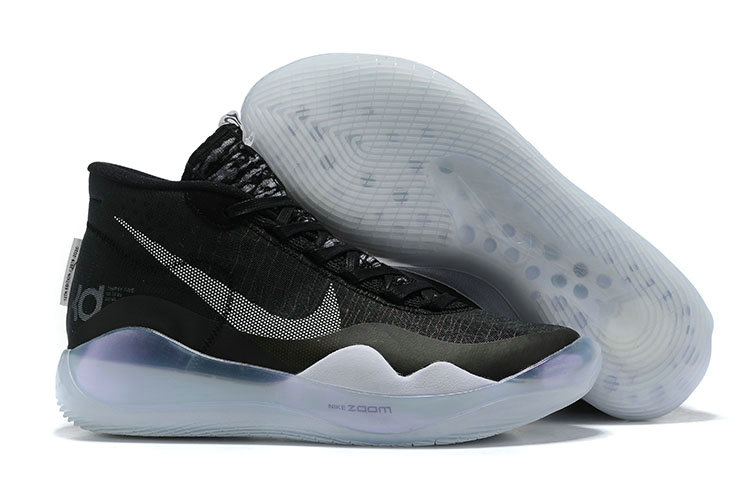 2019 Wholesale Cheap Nike KD 12 The Day One Black White - www.wholesaleflyknit.com