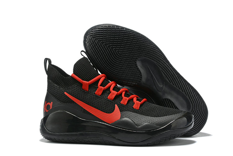 2019 Wholesale Cheap Nike Kevin Durant 12 Black University Red - www.wholesaleflyknit.com