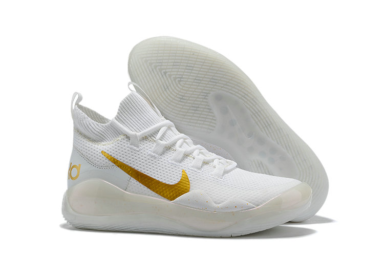 2019 Wholesale Cheap Nike Kevin Durant 12 White Metallic Gold - www.wholesaleflyknit.com