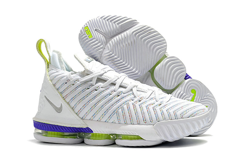 2019 Wholesale Cheap Nike LeBron 16 Buzz Lightyear AO2588-102 White-Multi-Color-Hyper Grape-Volt - www.wholesaleflyknit.com
