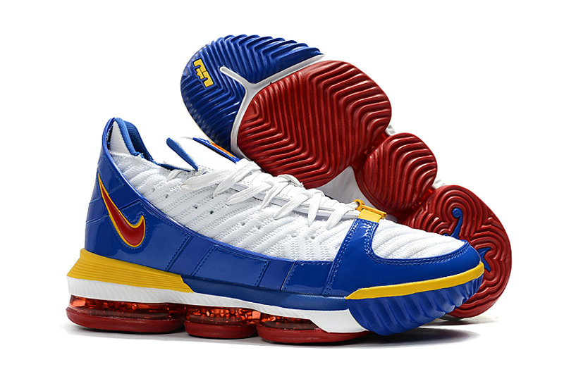 2019 Wholesale Cheap Nike LeBron 16 SB Superman CD2451-100 White-Varsity Red-Varsity Royal - www.wholesaleflyknit.com
