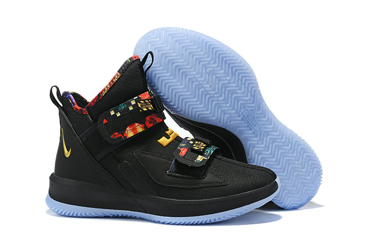 2019 Wholesale Cheap Nike Lebron James Soldier 13 All-Star Black Multi-Color - www.wholesaleflyknit.com