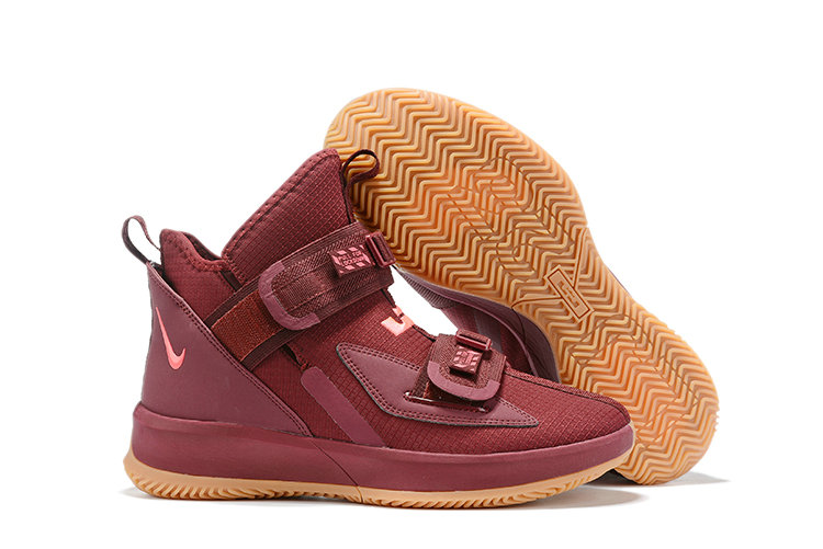 2019 Wholesale Cheap Nike Lebron Soldier 13 Team Red Wheat - www.wholesaleflyknit.com