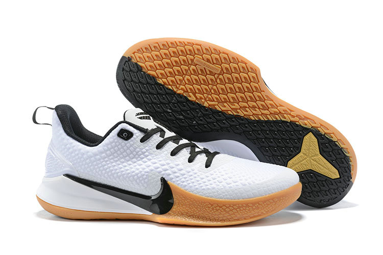 2019 Wholesale Cheap Nike Mamba Focus Basketball Shoes in White Black Gum Light - www.wholesaleflyknit.com