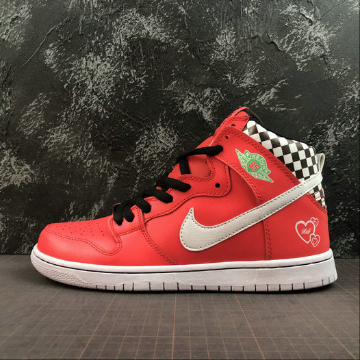 2019 Wholesale Cheap Nike SB DUNK HIGH PRM LOVE Watermelon Red White Melon Red Blanc - www.wholesaleflyknit.com