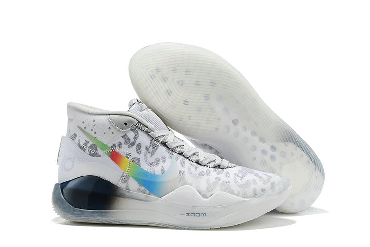 2019 Wholesale Cheap Nike Zoom Kevin Durant 12 White Grey Colorful - www.wholesaleflyknit.com