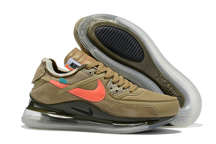 2019 Wholesale Cheap OFF-WHITE x Nike Air Max 720 x Air Max 90 Black And Desert Ore Raffles - www.wholesaleflyknit.com