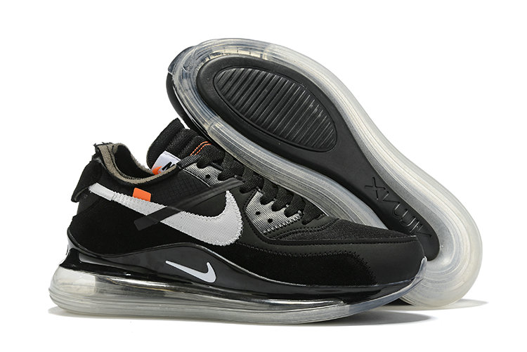 2019 Wholesale Cheap OFF-WHITE x Nike Air Max 720 x Air Max 90 Black-White-Cone-Black - www.wholesaleflyknit.com