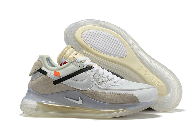 2019 Wholesale Cheap OFF-WHITE x Nike Air Max 720 x Air Max 90 Sail White-Muslin - www.wholesaleflyknit.com