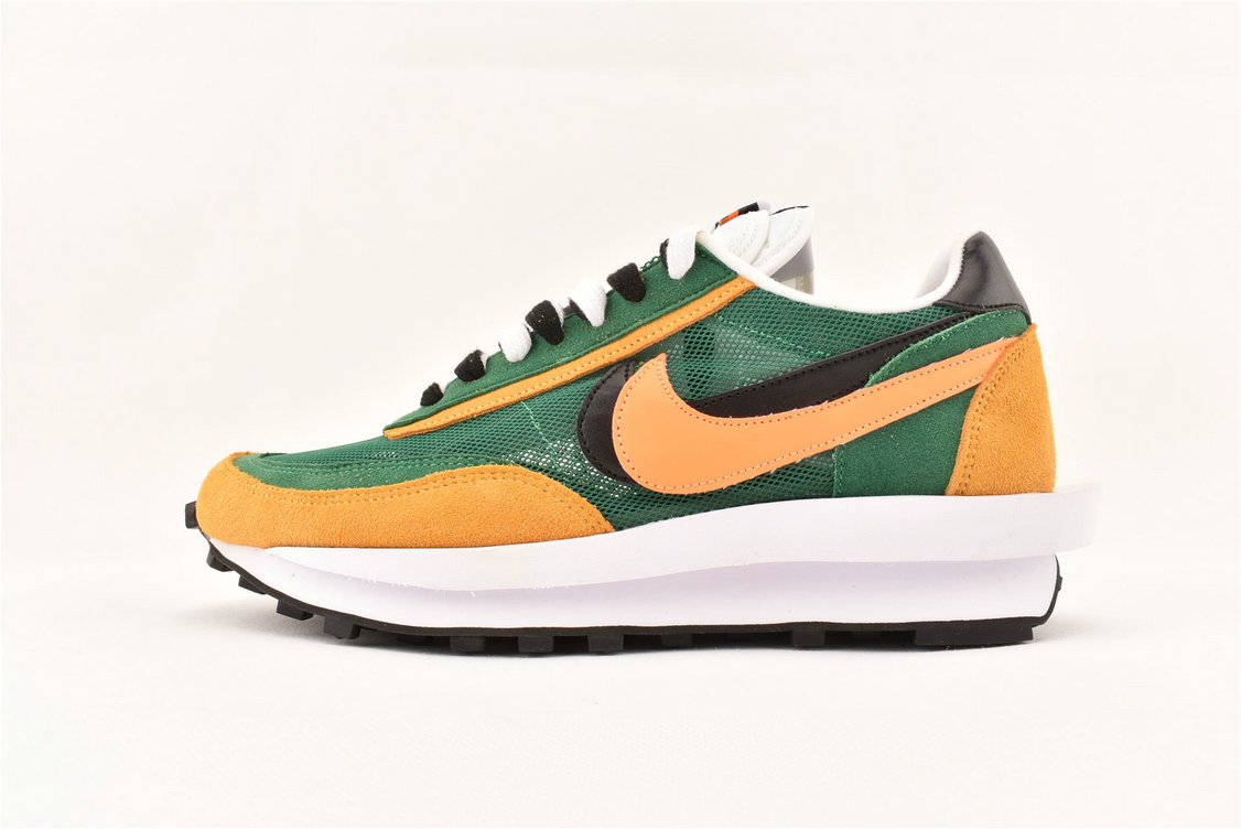2019 Wholesale Cheap Sacai x Nike LDWaffle Green Gusto Safety Orange Black BV0073-300 - www.wholesaleflyknit.com