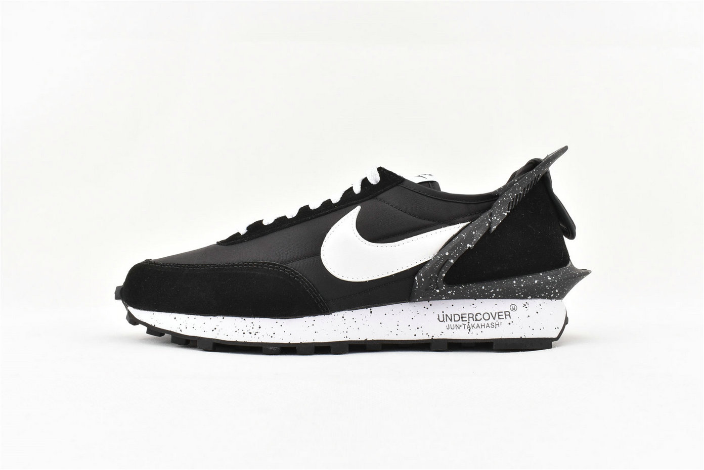 2019 Wholesale Cheap Sacai x Nike Waffle Racer Special Shaped Black White Splash Ink AA6853 001 - www.wholesaleflyknit.com