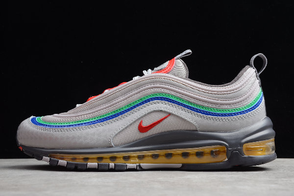 Where To Buy 2019 Cheap Womens Nike Air Max 97 Nintendo 64 Atmosphere Grey Habanero Red-Thunder Grey-Amarillo-Racer Blue-Lucky CI5012-001 - www.wholesaleflyknit.com