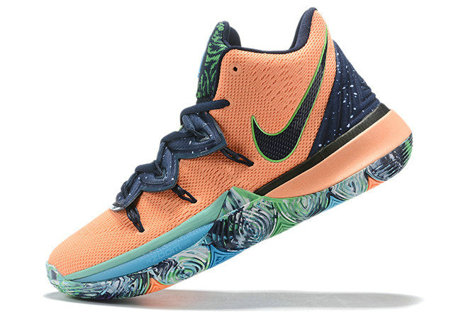 Where To Buy 2019 Nike Kyrie 5 Extraterrestrial Being Navy Blue Orange For Sale - www.wholesaleflyknit.com
