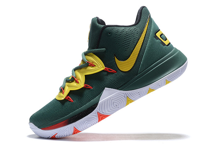 Where To Buy 2019 Nike Kyrie 5 Gorge Green Metallic Gold-Red For Sale - www.wholesaleflyknit.com