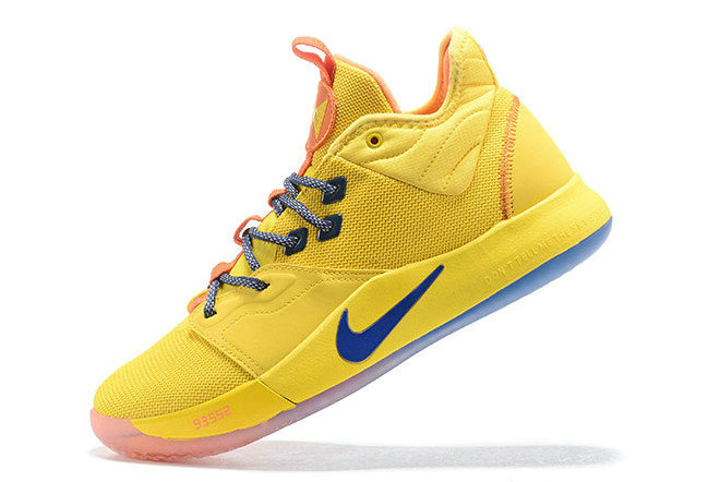Where To Buy 2019 Nike PG 3 Bruce Lee Tour Yellow Orange-Blue For Sale - www.wholesaleflyknit.com
